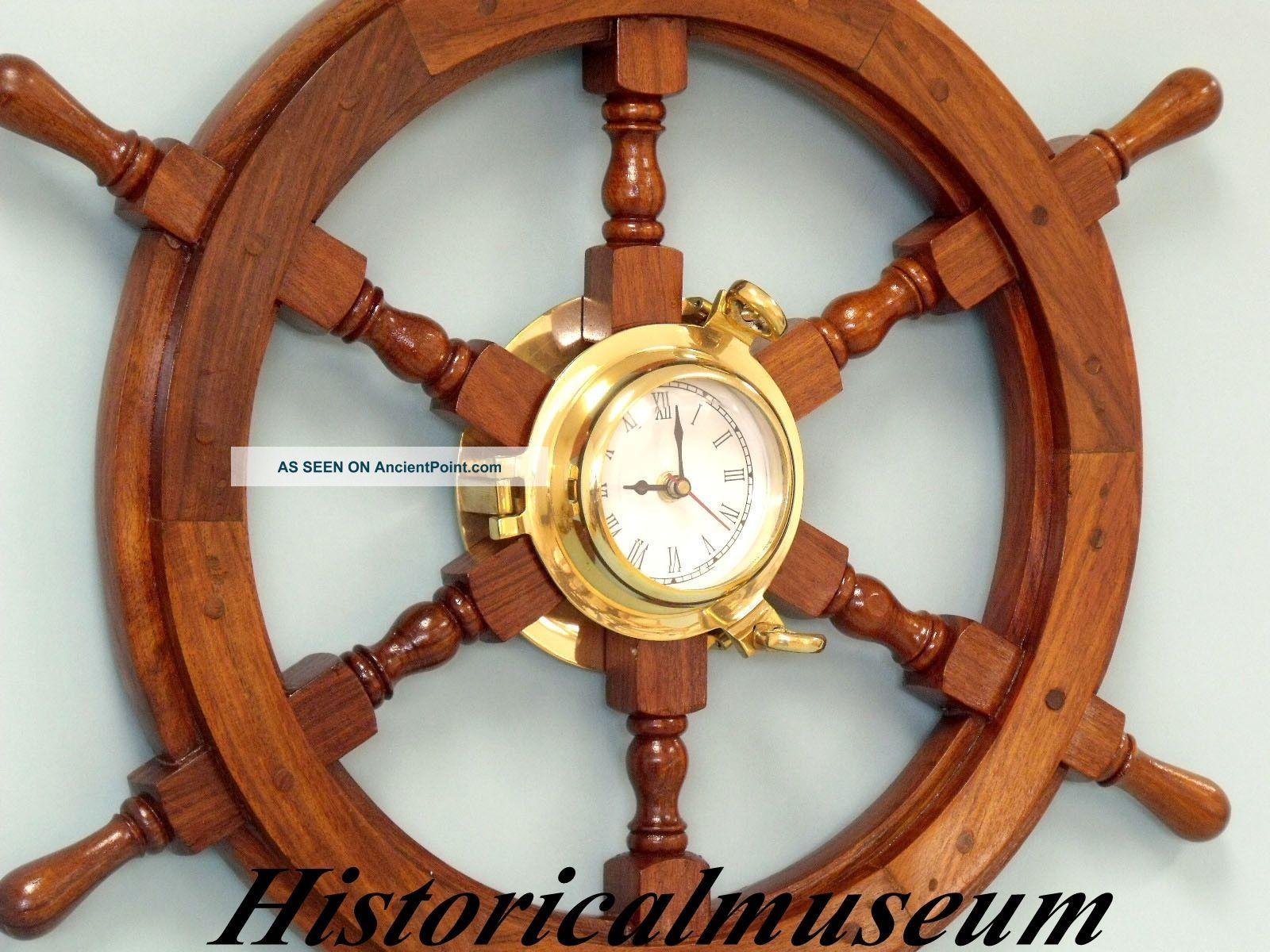 ship wheel antique replica boat steering decorative wooden b