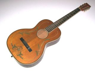 Antique Vintage Inlaid Parlor Guitar With Decal Regal,  Stromberg Voisinet Or Kay photo