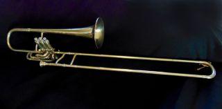 Rare 1884 C.  G.  Conn Valve - Slide Hybrid Trombone photo