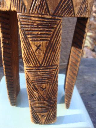 Small Unusual African? Narrow Drum Wood Tribal Hide Exotic Musical Decor photo
