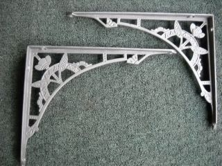 Pair Victorian Cast Iron Wall Brackets From 1890 ' S Water Closet photo