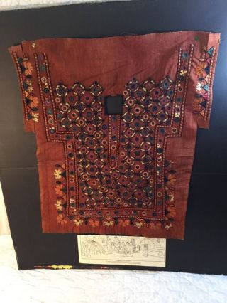 Antique Native American Indian Chippewa Textile Cloth Art Vest Embroidery Sequin photo