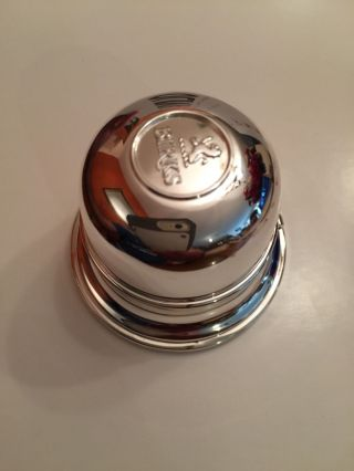 Birk ' S Of Canada Regency Lion Silverplate Dome Ring Box - photo