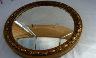 Antique Rococo Style Frame Convex Mirror photo