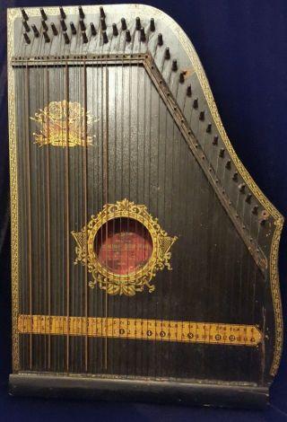 Menzenhauer ' S Guitar Zither,  Oscar Schmidt Patented 1894 photo