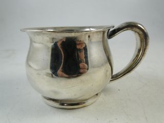 Antique Sterling Silver Infant Baby Cup Chamber Pot Unger Brothers Art Nouveau photo