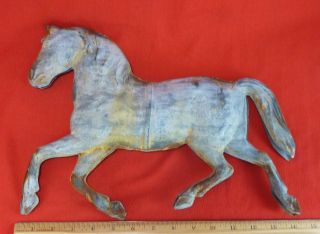 Tin Horse Old Rustic Vintage,  From Weather Vane Part? Antique Folk Art photo