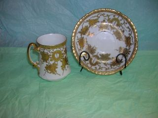 Mikado Tea Cup & Saucer,  Vintage,  Extra Japan 24k Gold Detail,  Hand Painted photo