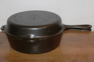 Griswold Size 80 Double Skillet 1102 Bottom & 1103 Top Vintage Cast Iron photo