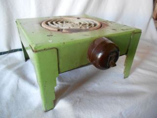 Old Electric Hot Plate By Force,  Art Deco Design,  Vintage photo