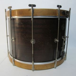 1928 - 39 Slingerland Thumb Rod (10) Street Mahogany Wood Drum 15