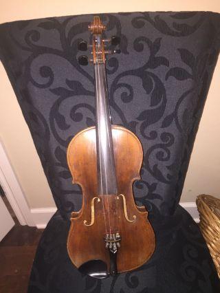 Antique Handmade Violin 1800 ' S Stadelmann School Vienna With Appraisal photo