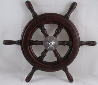 Antique Salvaged Trojan Helm Wheel Vintage Yacht Wheel Ship Wheel 19.
