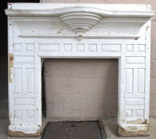 Antique Oak Fireplace Mantel Unique 56.  5 X 52.  5 Architectural Salvage photo