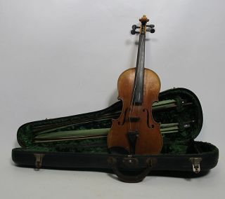 Antique Andreas Koch C 1915 Violin & Joseph Joachim Bow Attrb Ernst Kessler Yqz photo