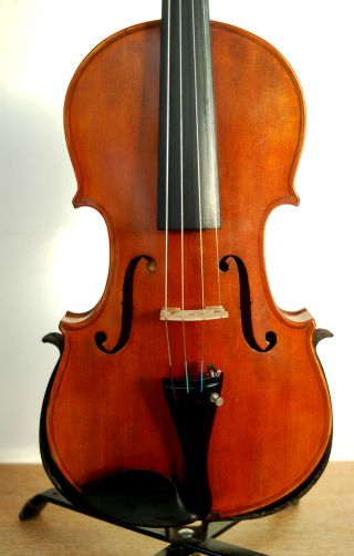Fine Antique German 4/4 Fullsize Violin With Old Case - From Around 1920 - photo