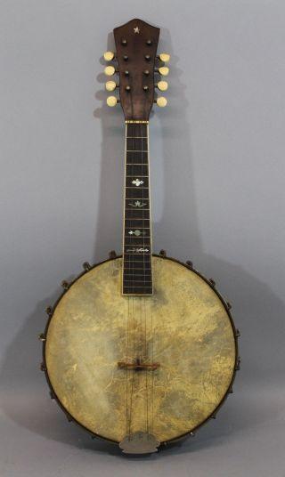 Quality Antique Circa - 1925,  8 - String Sovereign Mandolin Banjo,  Unrestored,  Nr photo