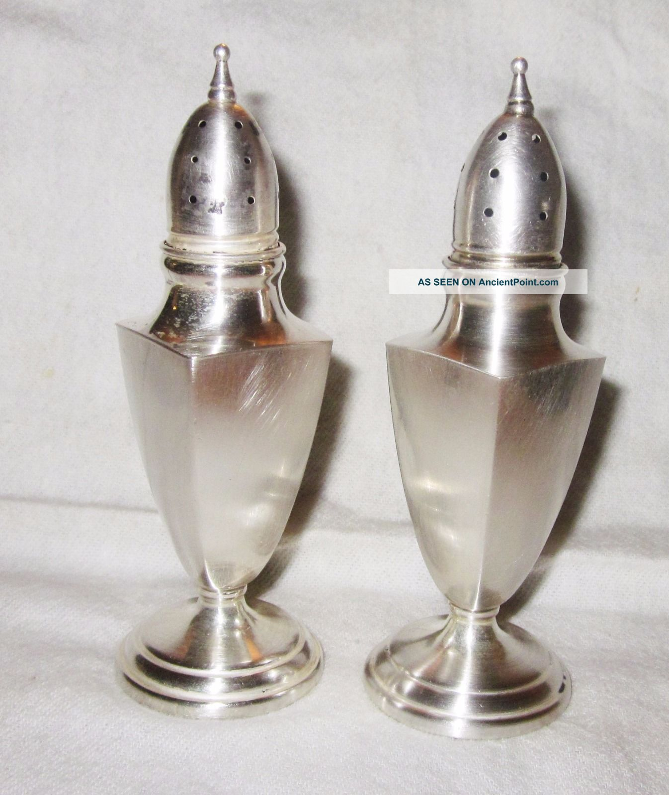 2 Vintage Sterling Silver Salt & Pepper Shakers Mueck Cary Co 67.  9 Grams Salt & Pepper Shakers photo