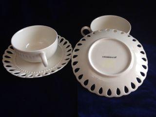 I.  Godinger Vintage From 1980s Bone Colur Teacup And Saucer. photo