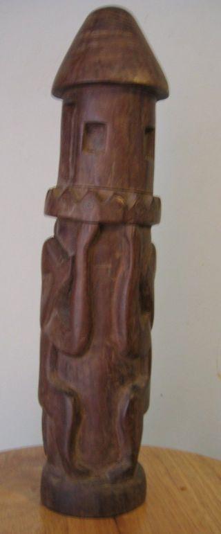 Old Ancestor Figure Statue Papua,  Guinea photo