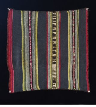 Andes Indian Handwoven Woman´s Coca Leaf Ritual Textile Bolivia Tm10305 photo