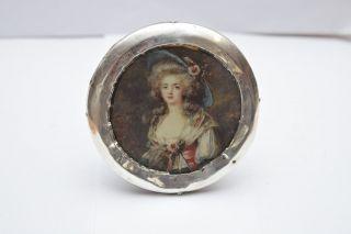 Birmingham Hall Marked Silver Circular Photograph Frame - Antique photo