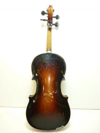 Vintage/antique Full Size 4/4 Scale Czechoslovakia Stradivarius Copy Violin photo