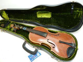 Vintage/antique Full Size 4/4 Scale German Strad Copy Robert Wiles Violin W/case photo