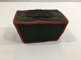 Antique Victorian Coffin Shape Pincushion Ca 1880s photo