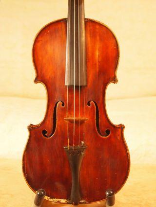 Very Old Vintage Antique Violin Luthier Restoration photo