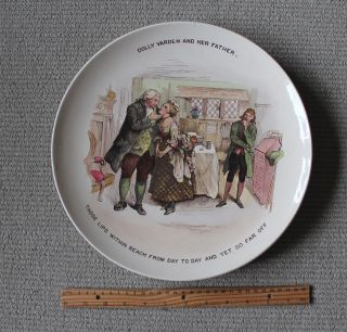 Antique Shelley Wileman/ The Foley Faience Charger/dolly Varden/charles Dickens photo