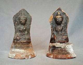 Antique 18 - 19th Burmese Terracotta Buddhist Buddha Bouddha Burma Shan photo