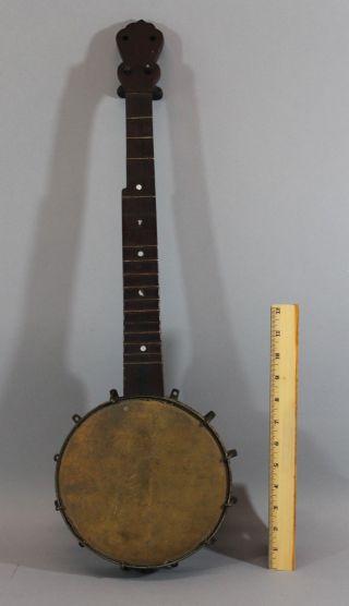 Unique Small Size Antique 5 - String Banjo Rosewood Resonator,  Circa 1900 Nr photo