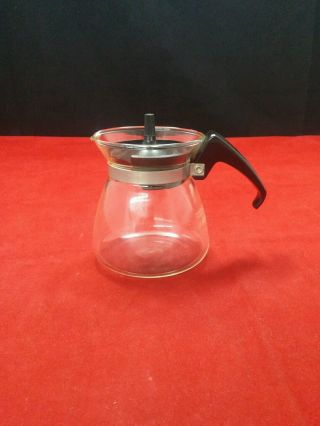 Vintage Pyrex Small Coffee Tea Carafe Server W/ Lid 2 Cup Corning Mpn 802 Euc photo