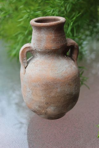 Antique Pottery Jar From Holy Land,  100ad - 100bc? photo