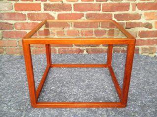 Vintage Mid Century Danish Modern Teak Rosewood Glass Table Eames Komfort Era photo