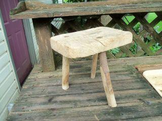 Vintage 3 Legged Wood Milking Stool photo
