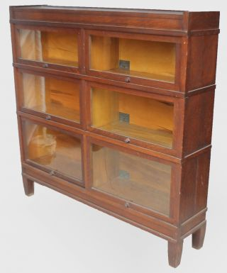 Antique Mission Oak Bookcase – Double Wide – Arts & Crafts Sectional Barrister photo