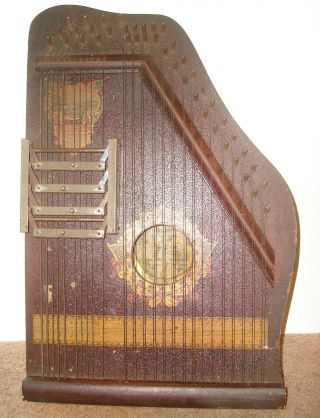 4 Chord Autoharp / Zither Special Panama Model 1915 Pianoette Advertising Co photo