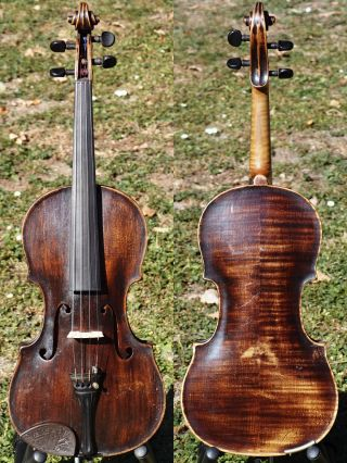 Fine Antique Violin Labelled J.  C.  Leidolff,  Vienna 1791.  First - Rate Tone & Build photo