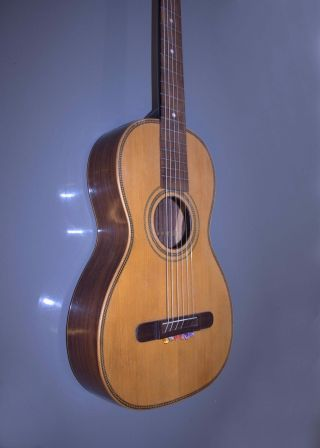 Pre 1900 Antique Old Vintage Early Parlor Guitar - Rosewood photo