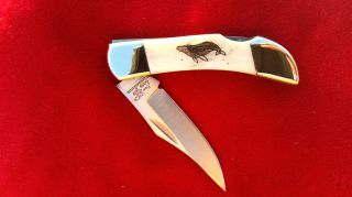 Scrimshaw Nautical Wildlife Art,  Humpback Whale,  Folding Pocket Knife photo