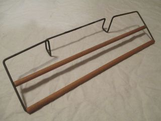 Antique 1910 - 20 ' S Steel Wire&wooden Spindle Bath Tub Kitchen Sink Towel Dry Rack photo