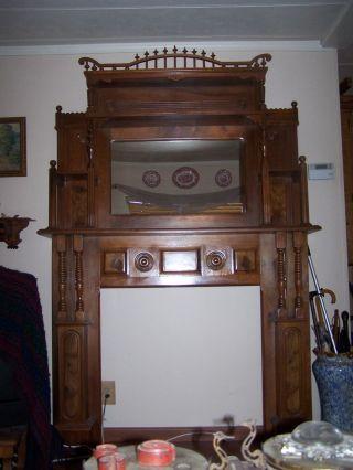 Victorian Walnut Full Mantel photo