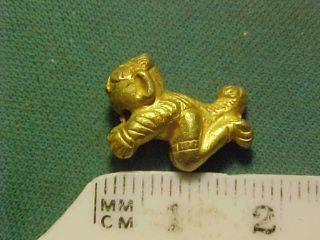 Sassanian Gold Amulet (crawling Figure) Circa 400 - 700 Ad. photo