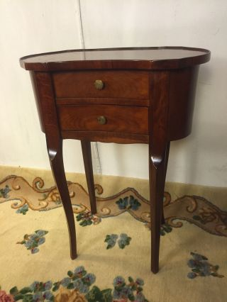Sewing Stand Antique Flame Mahogany C12pix4size/detail.  Ships $99make Offer photo