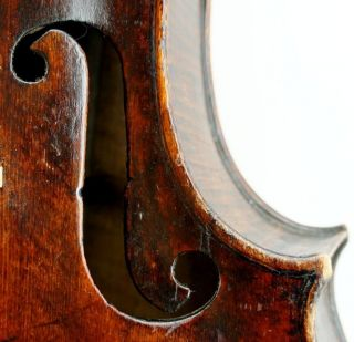 Old Antique German Violin With Great One Piece Back - photo