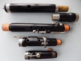 Antique 6 Key English Wooden Flute,  No Cracks,  Also Good For Irish Music photo