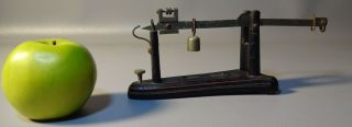 1870 Miniature Cast Iron & Brass Saleman's Sample Scale By Fairbanks photo