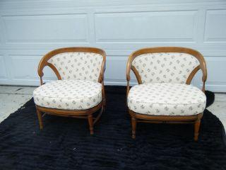 Vintage Tomlinson 1959 Modern Hollywood Regency Slipper Chairs photo
